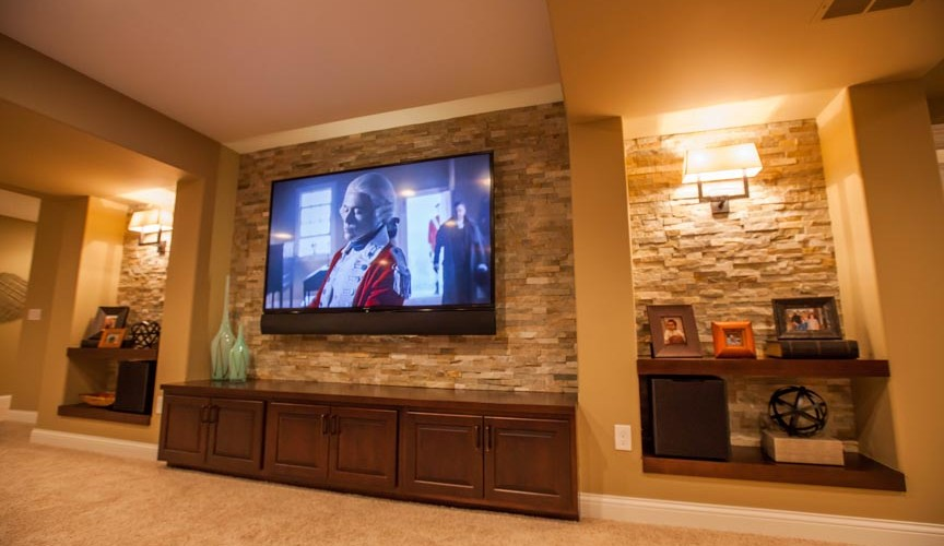 Feature TV and Lighting